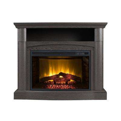 Angunox 40 in. Curved View Electric Fireplace TV Stand in Burnished Ebony