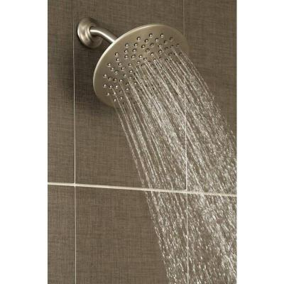 Velocity 2-Spray 8 in. Single Wall Mount Fixed Adjustable Spray Shower Head in Oil Rubbed Bronze