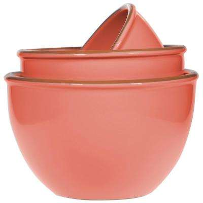 3-Piece Terracotta Mixing Bowls