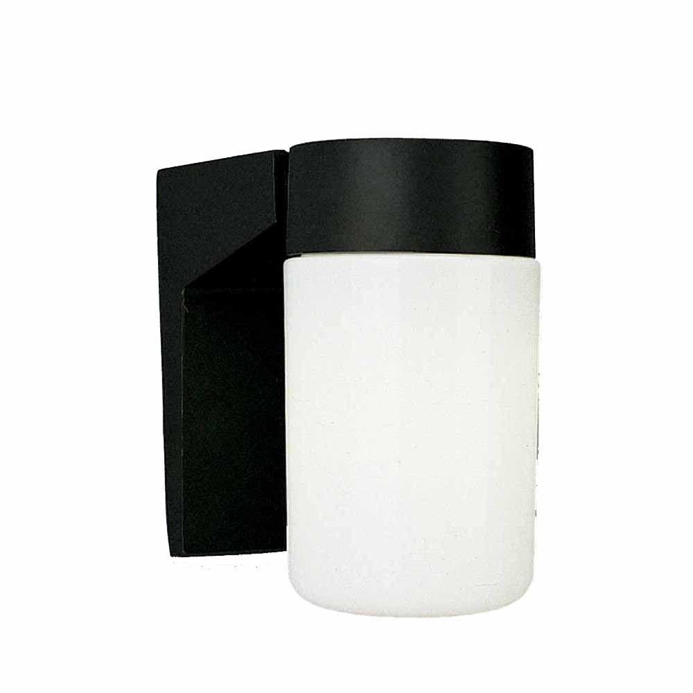 Lenor 1-Light Black Fluorescent Ceiling Semi-Flush Mount Light