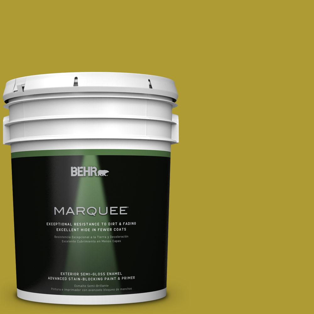 BEHR MARQUEE 5-gal. #P330-7 Luscious Lime Semi-Gloss Enamel Exterior Paint