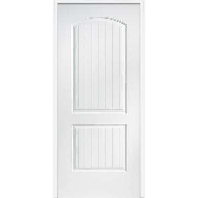 30 in. x 80 in. Smooth Cashal Left-Hand Solid Core Primed Molded Composite Single Prehung Interior Door
