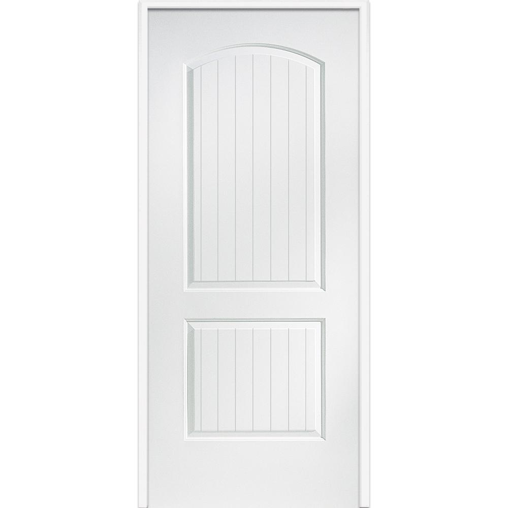 mmi door 30 in x 80 in smooth cashal right hand solid core primed molded mdf single prehung