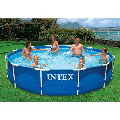 12 ft. x 30 in. Round Metal Frame Swimming Pool with 530 GPH Filter Pump