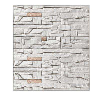 Falkirk Jura 3/10 in. x 28 in. x 30 in. Off-White, Rose Faux Slate PE Foam Peel-and-Stick Wall Panel (10-Pack)