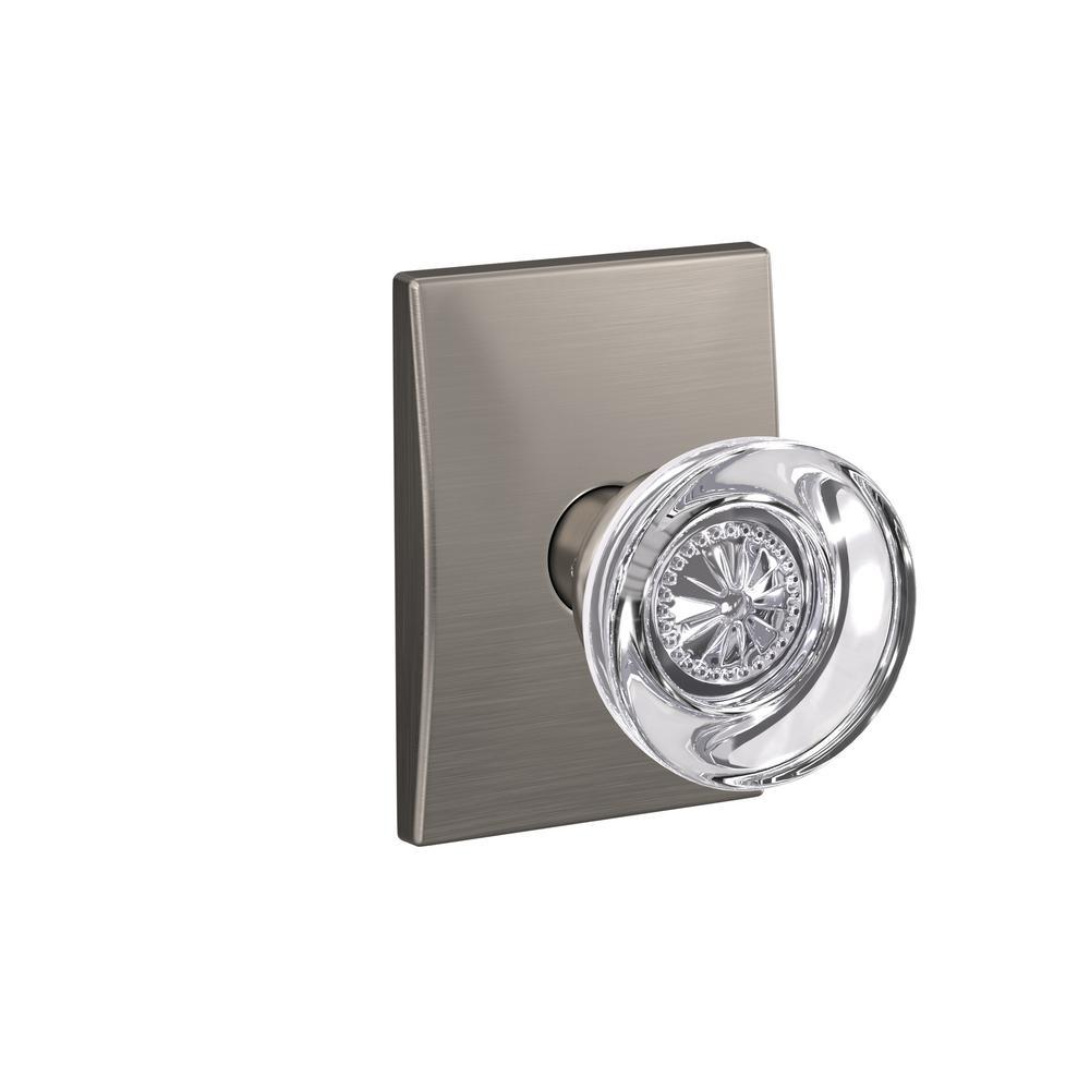 Custom Hobson Satin Nickel Century Trim Combined Interior Glass Door Knob