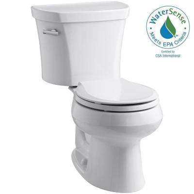 Wellworth 14 in. Rough-In 2-piece 1.28 GPF Single Flush Round Toilet in White