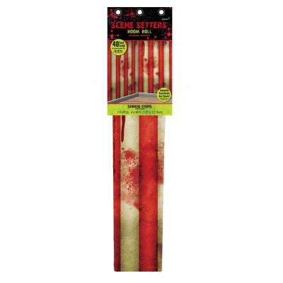 48 in. Halloween Creepy Carnival Striped Scene Setters Room Roll