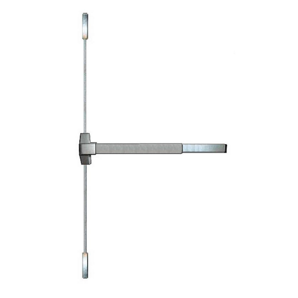 Fire Rated Crash Bar Vertical Surface Rod Exit Device in Satin