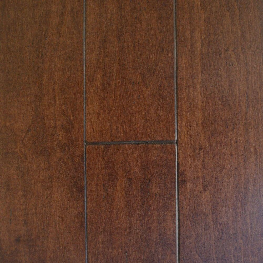 Millstead maple cacao 3 8 in thick x 4 3 4 in wide x for Hardwood flooring stores
