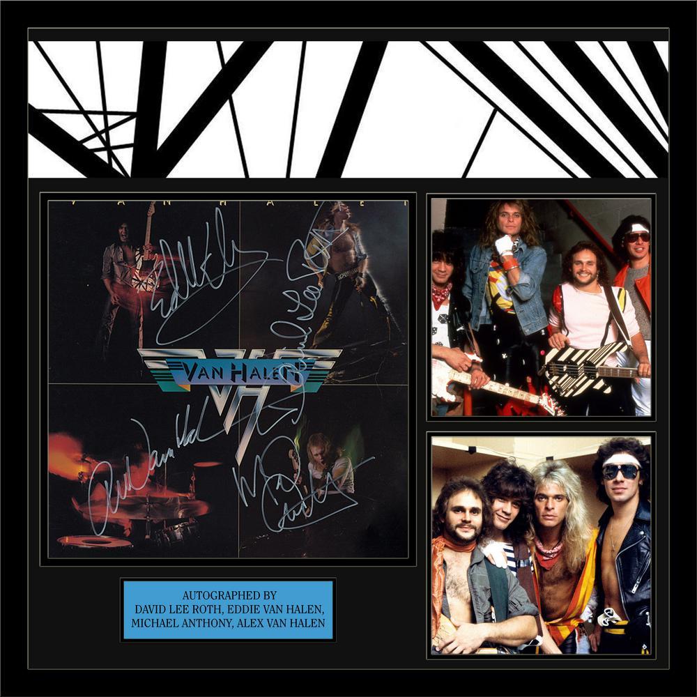 Prints By Deluxe: Van Halen (Van Halen) Deluxe Album Framed Wall Art-LWMV1