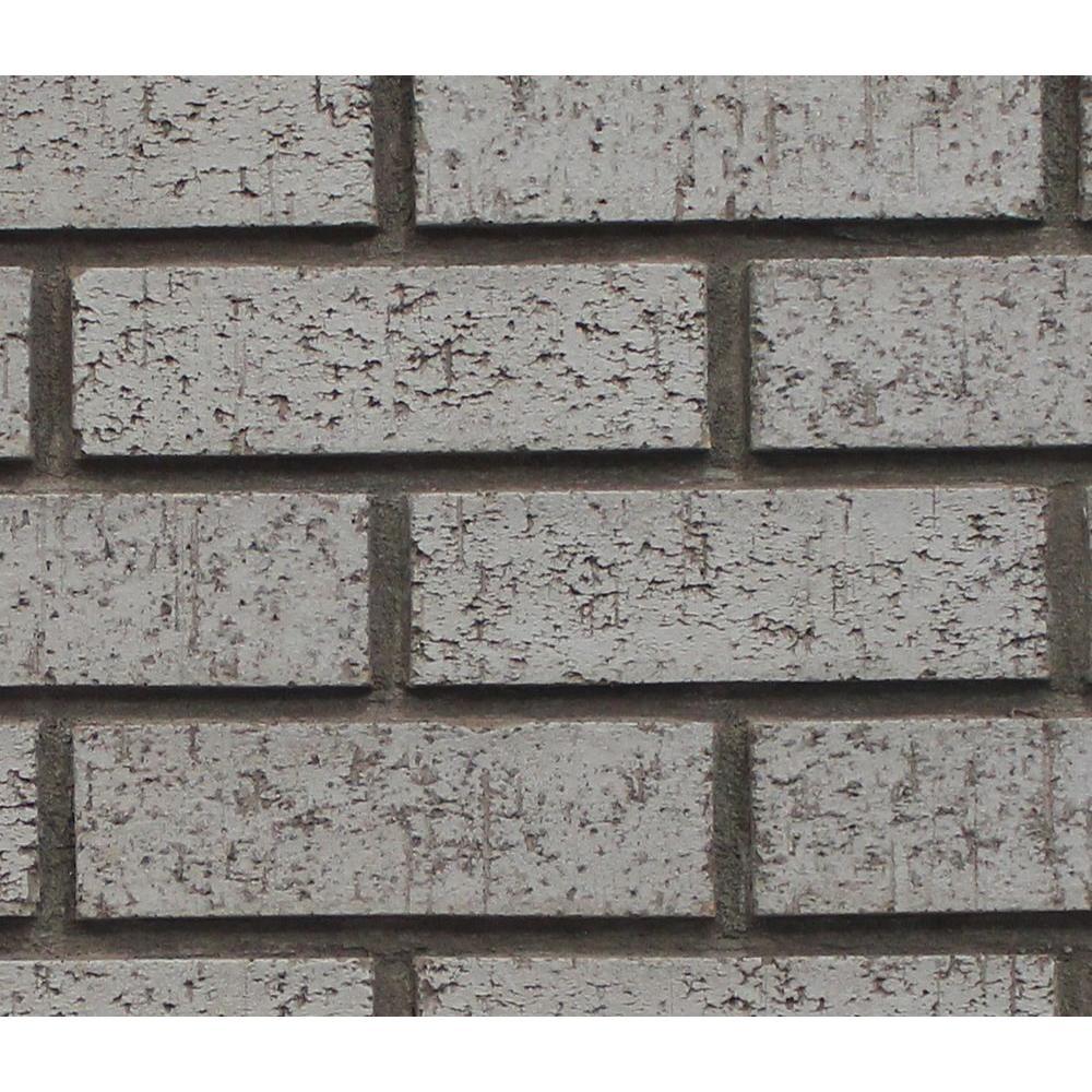 Gray Stone 8 in. x 8 in. x 3/4 in. Faux New Brick Stone Sample
