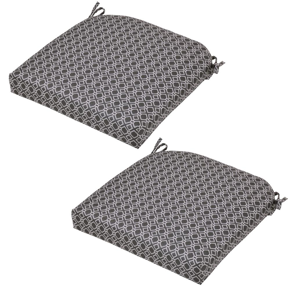 Black Geo Outdoor Seat Cushion 2 Pack 8399 02210500