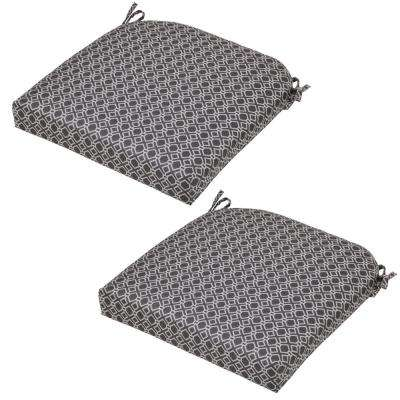 Black Geo Outdoor Seat Cushion (2-Pack)