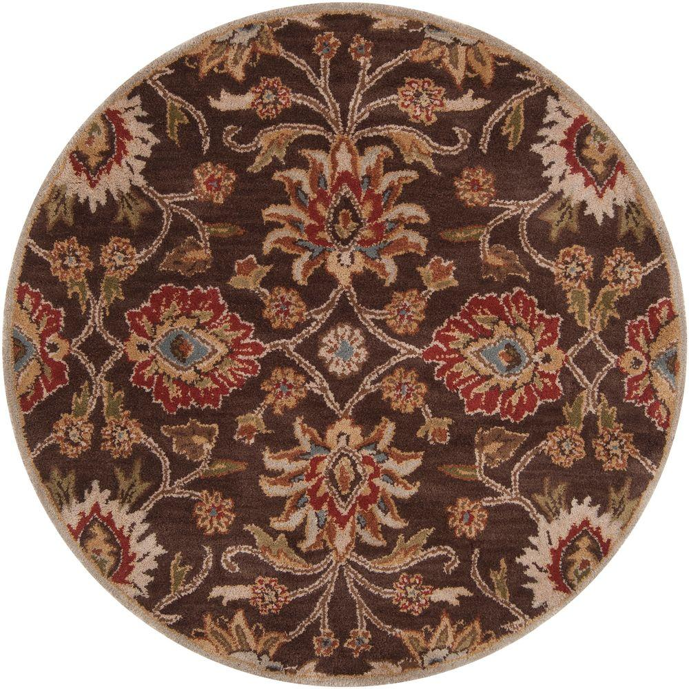 Ottomanson Traditional Floral Design Dark Red 2 Ft X 7 Ft: Artistic Weavers John Brown 9 Ft. 9 In. X 9 Ft. 9 In