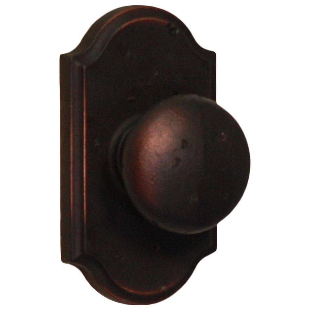 Weslock Molten Bronze Oil-Rubbed Bronze Premiere Passage Wexford Knob