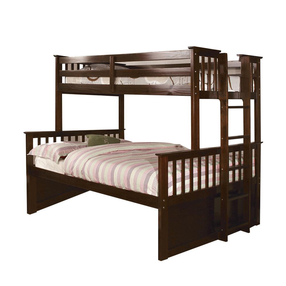 University I Dark Walnut Twin and Full Bunk Bed