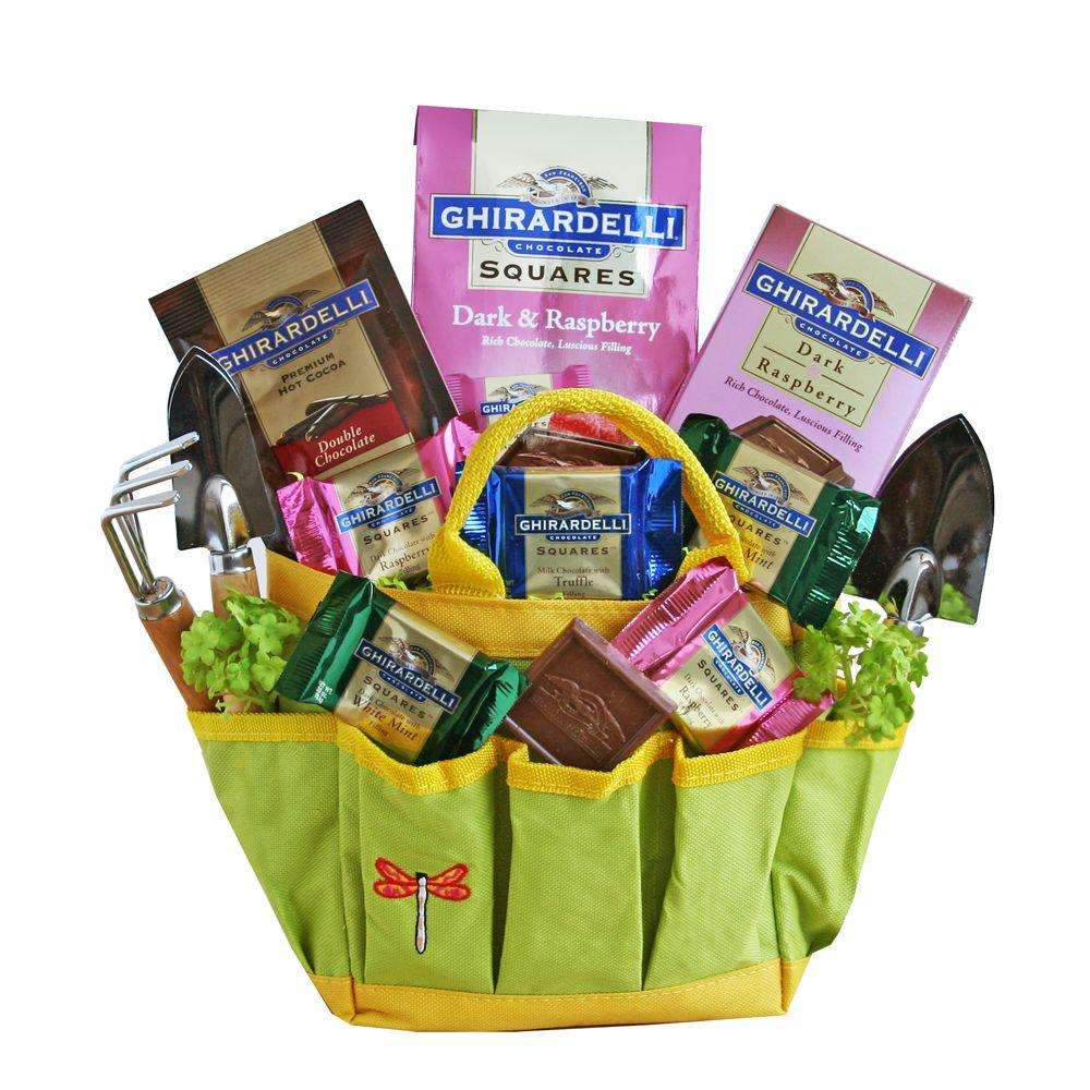 Garden Tote with Chocolates Gift Basket-XX-GTWCGB - The Home Depot