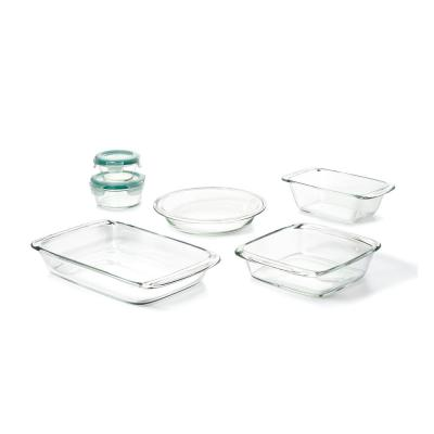 Good Grips 8-Piece Glass, Bake, Serve and Store Bakeware Set