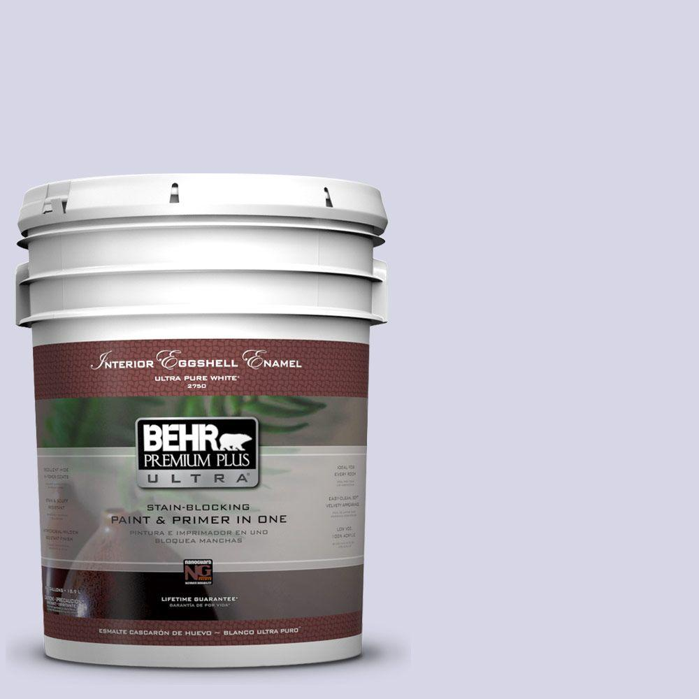 BEHR Premium Plus Ultra 5-gal. #PPU16-8 Hint of Violet Eggshell Enamel Interior Paint