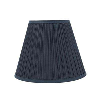 Blue lamp shades lamps the home depot dark blue pleated empire lamp shade aloadofball Image collections
