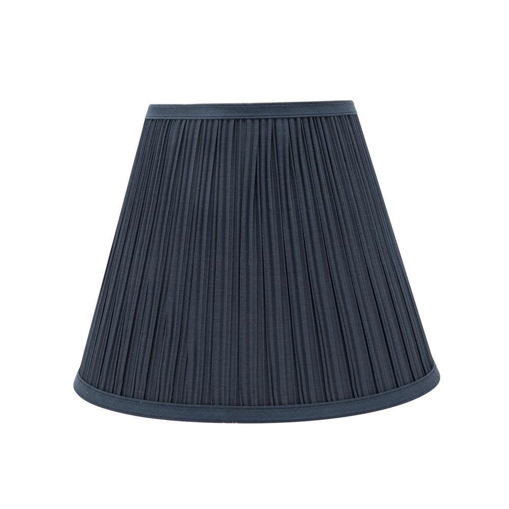 13 in. x 10 in. Dark Blue Pleated Empire Lamp Shade