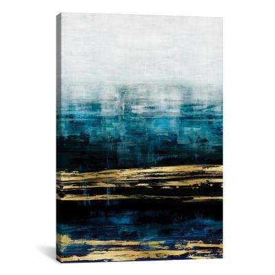 """Aqua Reflections With Gold"" by Allie Corbin Canvas Wall Art"