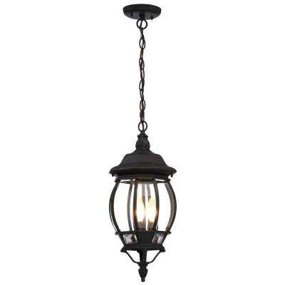 Concord 3-Light Textured Black Outdoor Hanging Lantern