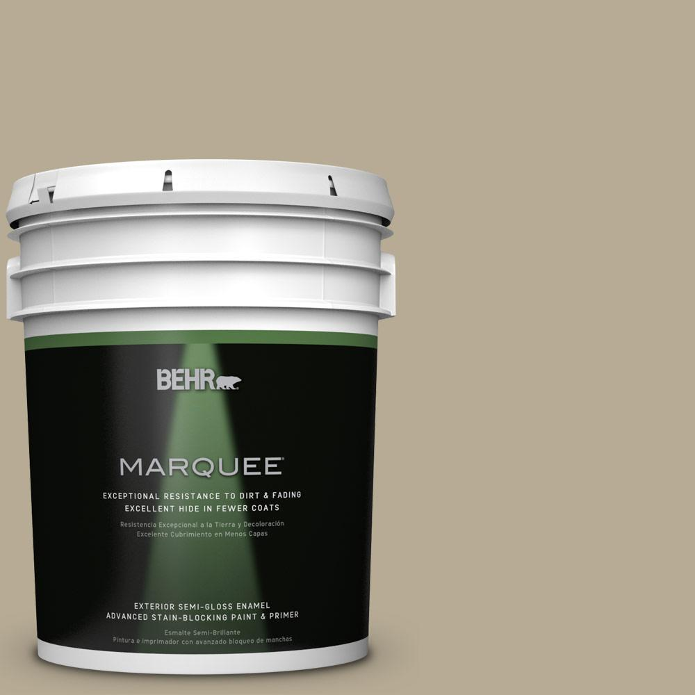 5-gal. #N330-4 Explorer Khaki Semi-Gloss Enamel Exterior Paint