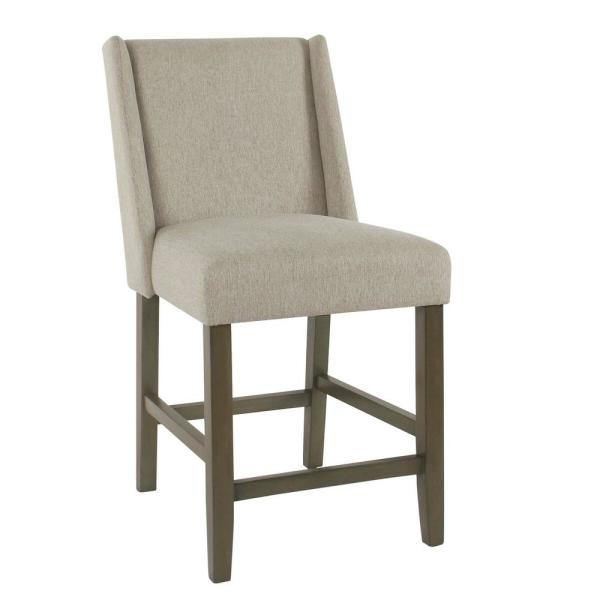 Homepop Dinah 24 in. Red and Gold Damask Bar Stool K7701-24-F2282