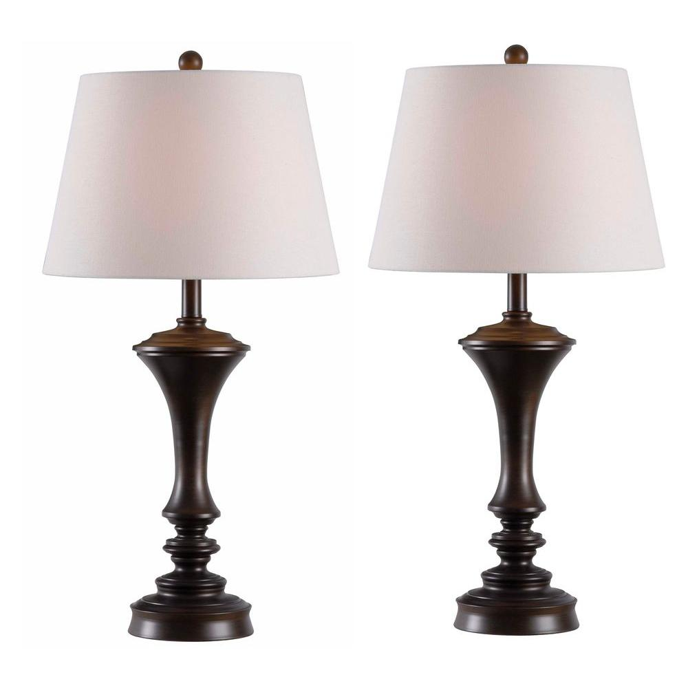 Kenroy Home Isabella 29 In Copper Table Lamps 2 Pack Kh80426