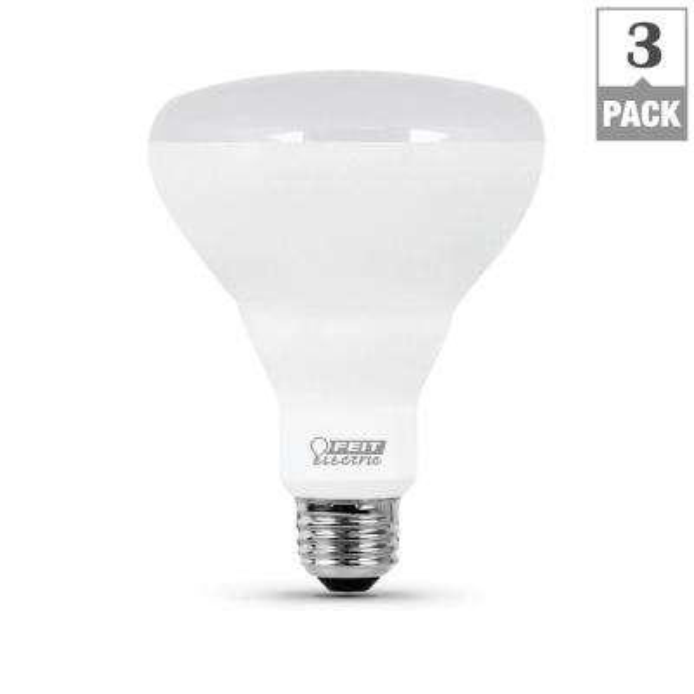 65-Watt Equivalent BR30 Dimmable CEC Title 24 Compliant LED ENERGY STAR 90+ CRI Flood Light Bulb, Soft White (3-Pack)