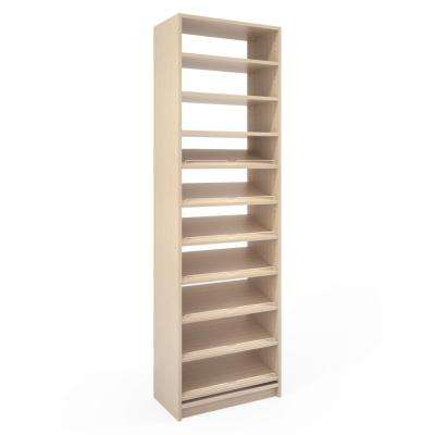 14 in. D x 24 in. W x 84 in. D Chai Latte Wood Shoe Storage Closet System