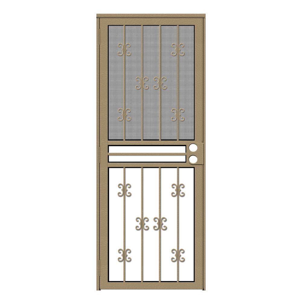 Unique Home Designs 30 in. x 80 in. Moorish Lace Tan ...
