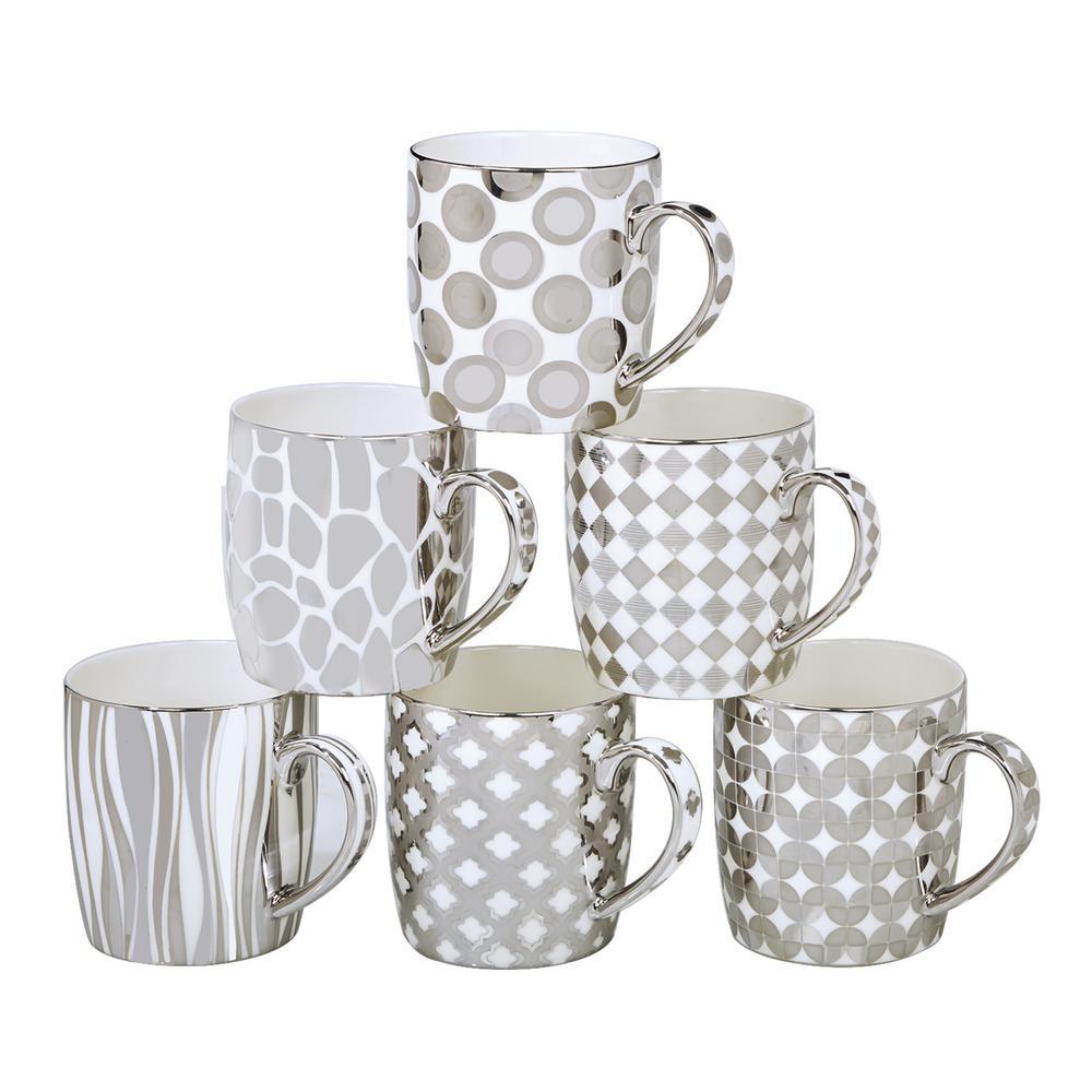 16 oz. Silver Plated Barrel Mug (Set of 6) by