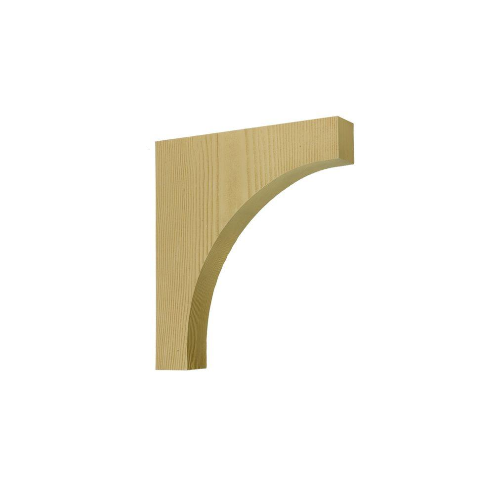 Fypon 28 in. x 32 in. x 4-1/4 in. Polyurethane Timber Cove/Arch Bracket