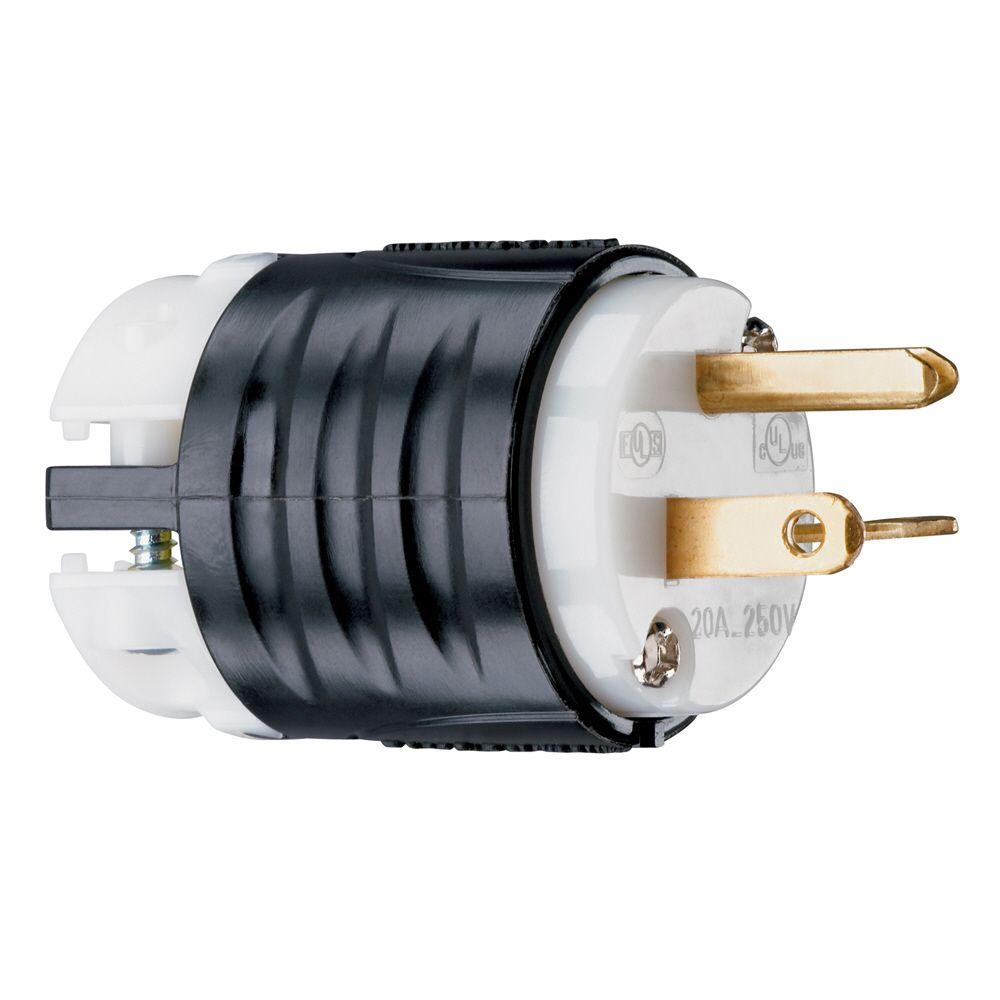 [ZSVE_7041]  Legrand Pass & Seymour Extra-Hard Use 20 Amp 250-Volt NEMA 6-20P Straight  Blade Plug-PS5466XCCV4 - The Home Depot | 20a 240v Plug Wiring Diagram |  | The Home Depot