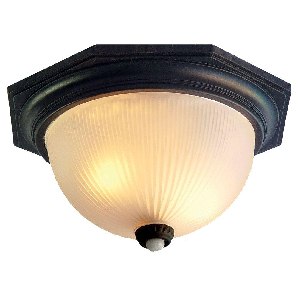 Acclaim Lighting Outer Banks Collection Ceiling-Mount 2-Light Outdoor Matte Black Fixture