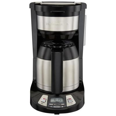 8-Cup Black Programmable Coffee Maker with Thermal Carafe