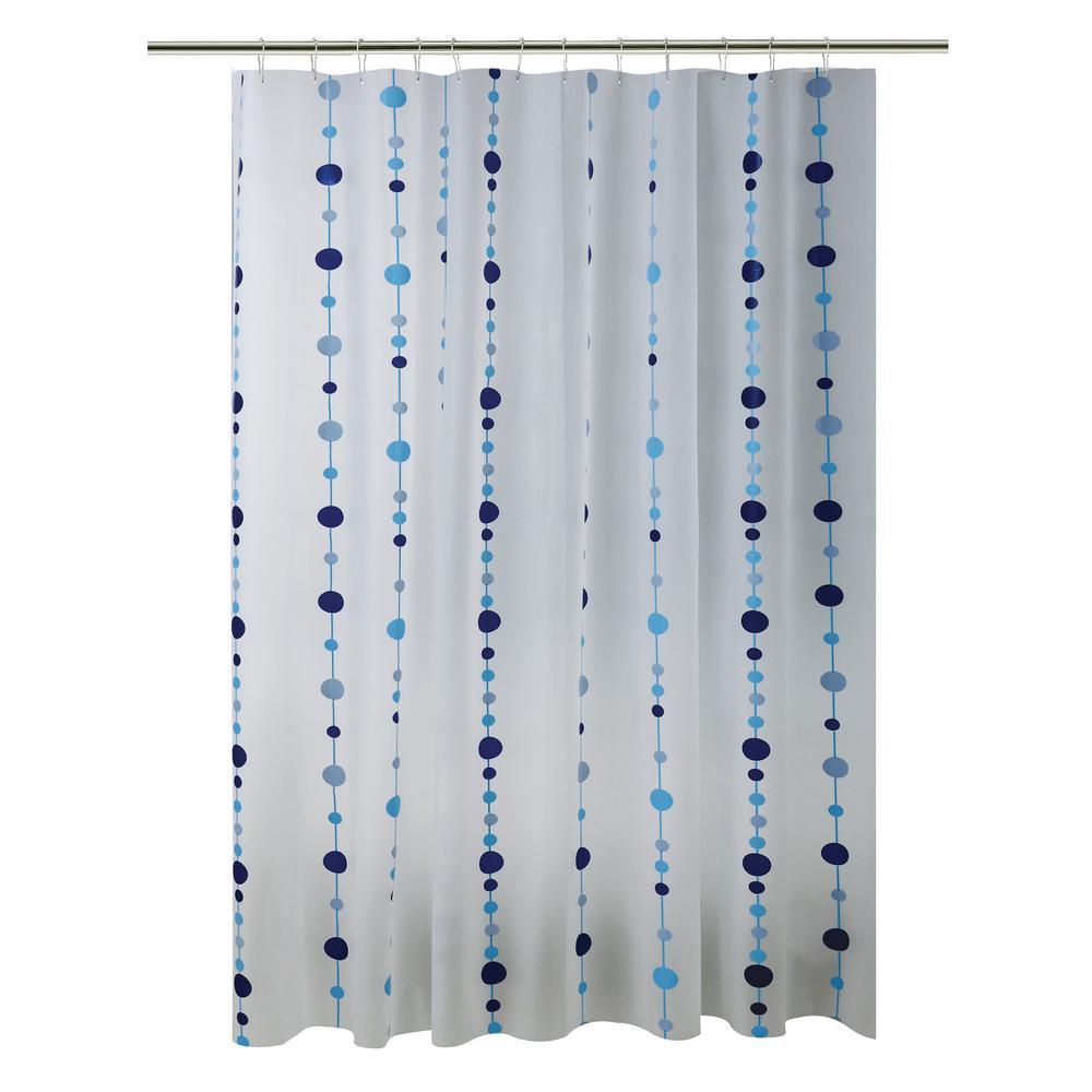 PEVA 70 in. x 72 in.  Blue Chandelier Design Shower Curtain