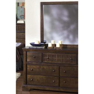 Casual Traditions 7-Drawer Walnut Dresser with Mirror