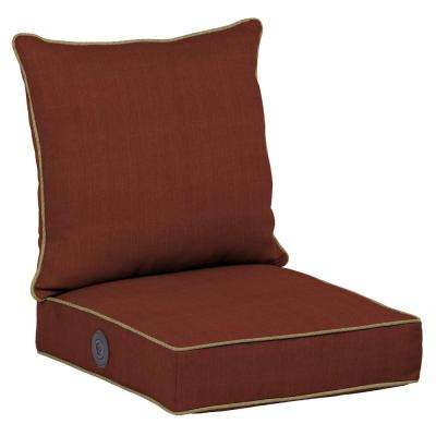 Pompas Pomegranate Adjustable Comfort 2-Piece Deep Seating Outdoor Lounge Chair Cushion