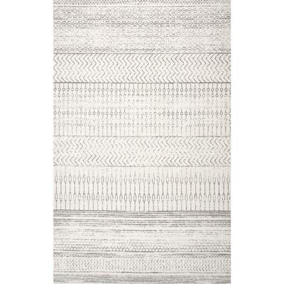 Nova Stripes Gray 10 ft. x 14 ft. Area Rug