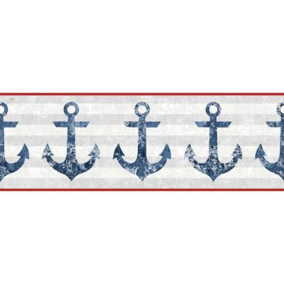 Nautical Living Anchors Away Wallpaper Border
