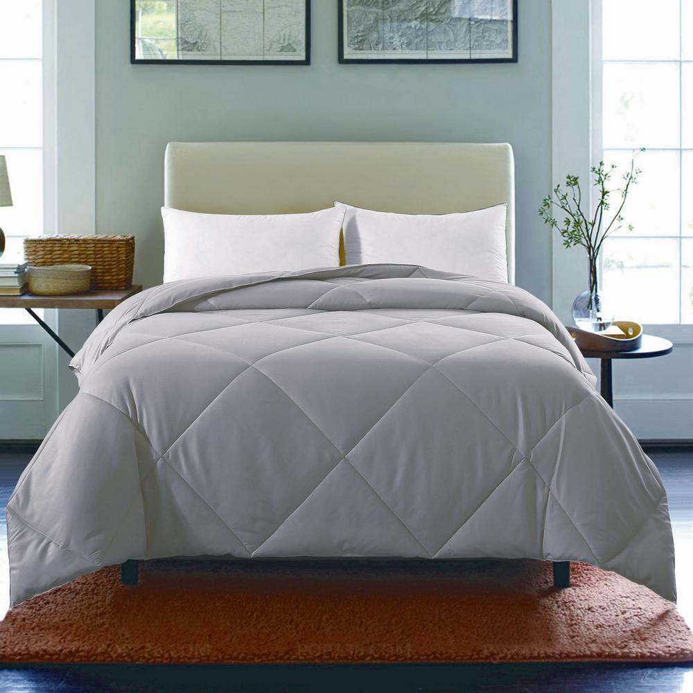 St James Home Light Gray Solid Full Queen Comforter P18 0240 Q G