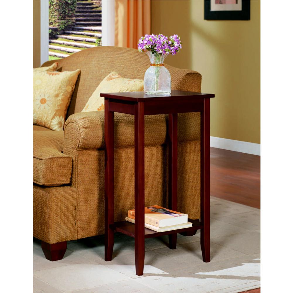 Multi-Purpose End Table Bottom Shelf Storage Wooden Frame