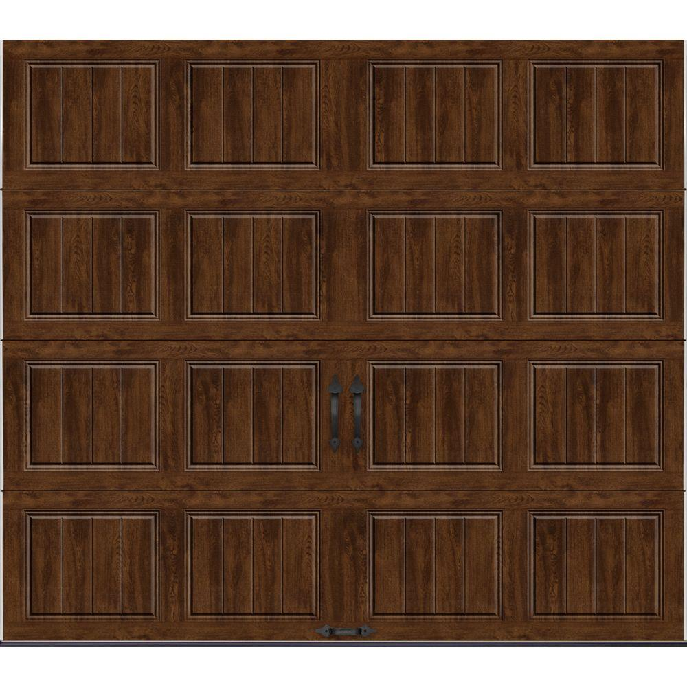 home depot solid wood door. Clopay Gallery Collection 8 ft  x 7 6 5 R Value Insulated Solid
