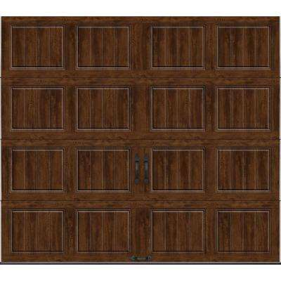 Gallery Collection 8 ft. x 7 ft. 18.4 R-Value Intellicore Insulated Solid Ultra-Grain Walnut Garage Door