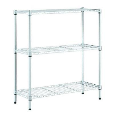 Chrome 3-Tier Steel Wire Shelving Unit (23 in. W x 30 in. W x 13 in. D)