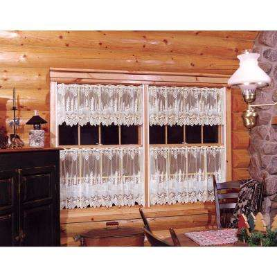 Pinecone 60 in. L Polyester Valance in White
